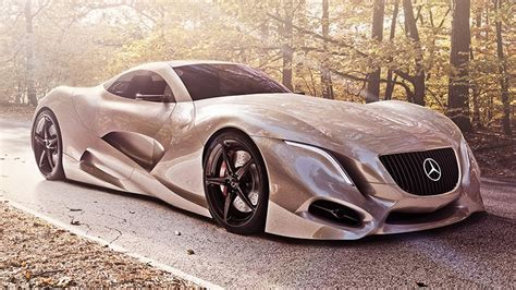 The front is characterized by a fascia that seamlessly combines led headlights with the faux intake grille made of carbon fiber. Mercedes-Benz I SuperCar Concept - The Best Mercedes Ever Made - YouTube