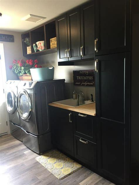 laundry room  designed  ikea kitchen cabinets