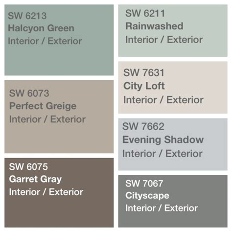 sherwin williams greige colors palette decided for house paint sherwin williams