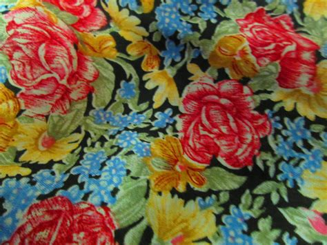 shabby fabrics blooms vintage cotton shabby chic fabric black with roses and flowers quilting manes fabrics company 45