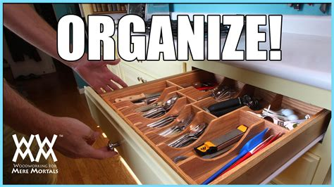 kitchen drawer organizer diy woodworking project youtube