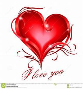 Süße Herz Bilder : rotes herz mit ich liebe dich text vektor abbildung illustration von gef hl kurve 41257568 ~ Frokenaadalensverden.com Haus und Dekorationen