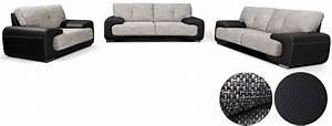 Polstergarnituren 3er 2er Und Sessel : wohnlandschaft sofa set couch 3er 2er sessel 3 2 1 kunstleder schwarz lorento ebay ~ Bigdaddyawards.com Haus und Dekorationen