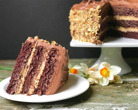 chocolate peanut layer cake  good eats company