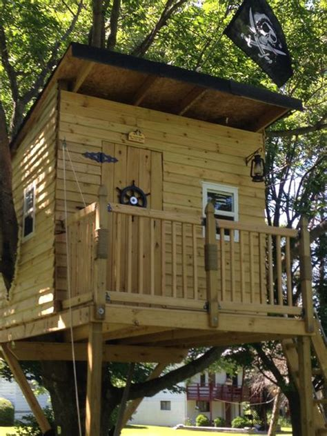 diy tree houses   plans  excite  kids