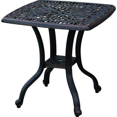 cast aluminum patio table outdoor end table patio furniture cast aluminum elisabeth