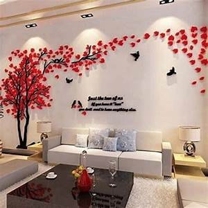 wall sticker idea that will change look of your house With best brand of paint for kitchen cabinets with flying bird wall art