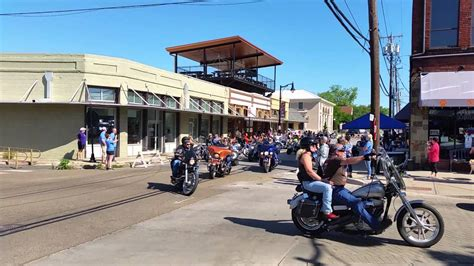 Sulphur Springs Texas Biker On Mainstreet 2016