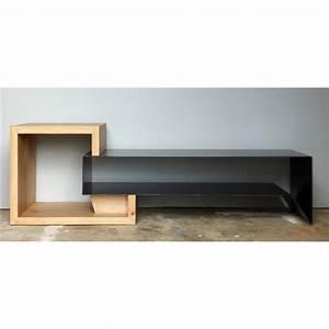 Meuble Tv Metal : meuble tv en m tal et bois konnect atelier mobibois ~ Teatrodelosmanantiales.com Idées de Décoration
