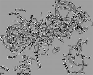 John Deere 2020 Wiring Harness