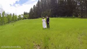 the star of this wonderful wedding vid is the clumsy drone With wedding drone footage