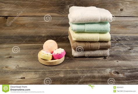 spa cleanse accessories  weathered wood stock image