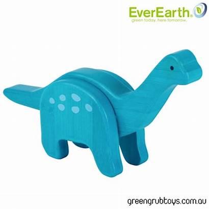 Wooden Everearth Dinosaur Toy Brachiosaurus Velociraptor Postage