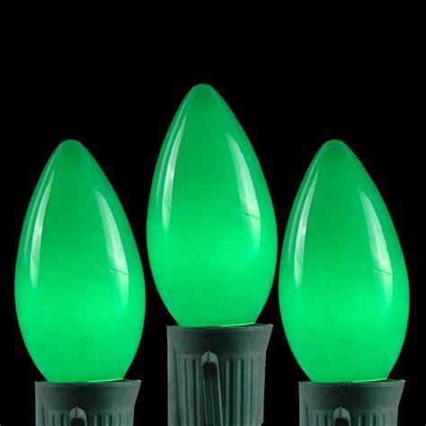 c9 clear christmas lights 100 green ceramic c9 vintage christmas light set on green