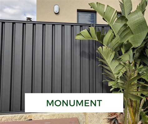 colorbond fence makeover monument backyard