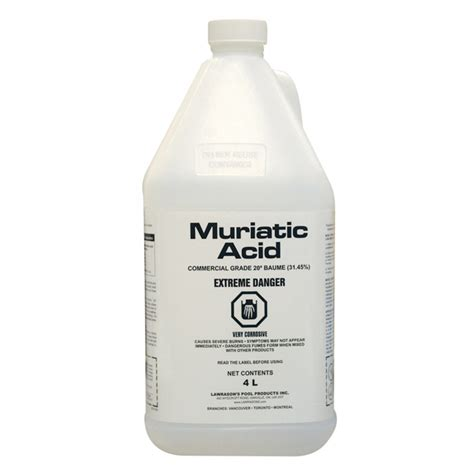 muriatic acid lawrason s inc janitorial and sanitation products muriatic acid 4 l