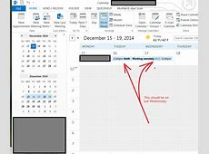 calendar Outlook shows all day events in adjacent time