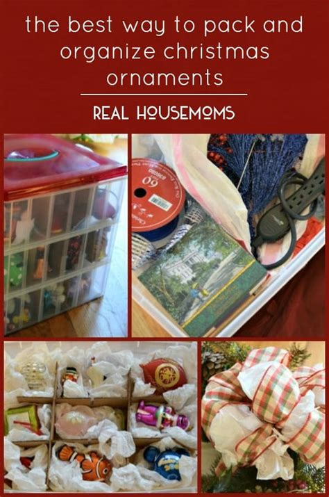 the best way to pack and organize christmas ornaments