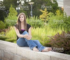 Cute Solemn High School Girl Stock Photo & More Pictures ...