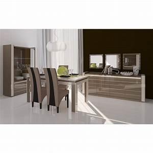 Meuble de salon salle a manger lina 9 elements achat for Meuble salle À manger avec chaise salon design