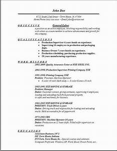 general labor resumeexamplessamples free edit with word With general resume template