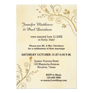 post wedding reception invitations post wedding reception invitations announcements zazzle