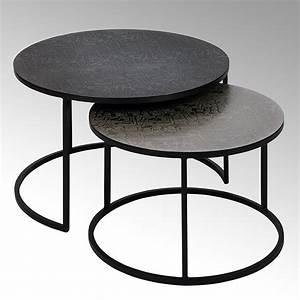 Couchtisch Set Rund : maddox couchtisch 2er satz rund untergestell metall ~ Whattoseeinmadrid.com Haus und Dekorationen