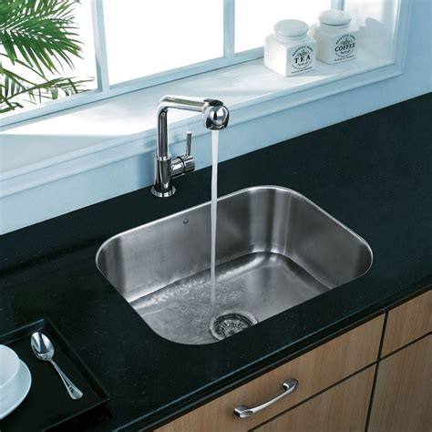 single sinks for kitchens vigo industries vg2318k1 23 inch undermount single bowl 5264