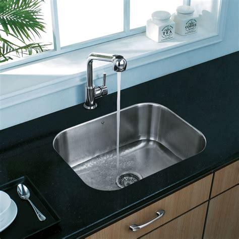 single undermount kitchen sink vigo industries vg2318k1 23 inch undermount single bowl 5266
