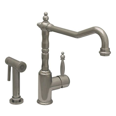 whitehaus kitchen faucet whitehaus collection jem collection single handle side sprayer kitchen faucet in polished chrome