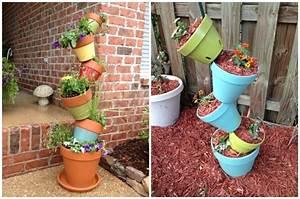 Creation Avec Des Pots De Fleurs : d co jardin avec pots de fleurs ~ Melissatoandfro.com Idées de Décoration