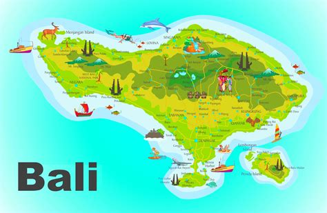 bali map world  travel information   bali