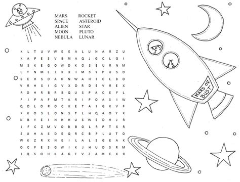 solar system word search printable kiddo shelter