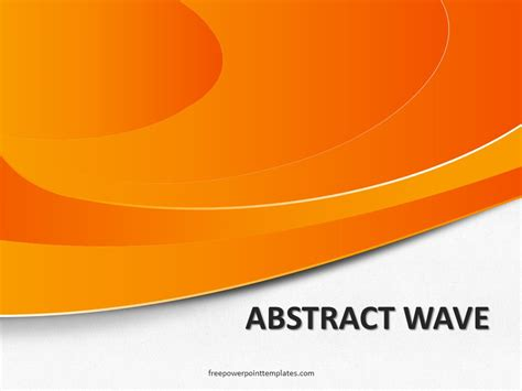 abstract wave orange powerpoint template