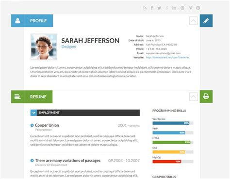 Best Color For Resume by 15 Best Themes For Creating Resume Cv Profile