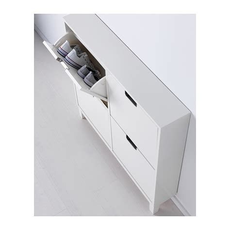 ikea stall schoenenkast st 196 ll shoe cabinet with 4 compartments white 96x90 cm ikea