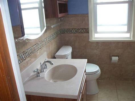 small outdated bathroom  transformed  feeling