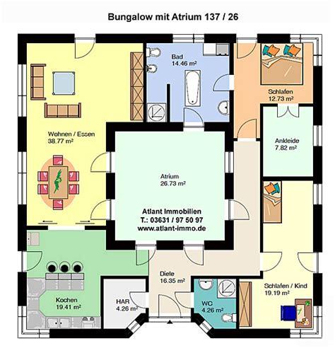 Bungalow Mit Atrium by Atrium 137 26 Ka Bungalow Mit Atrium Einfamilienhaus