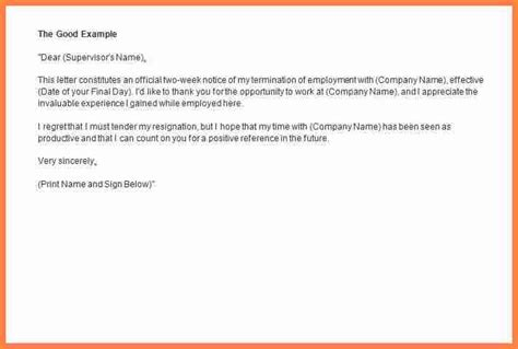 week notice email template notice letter