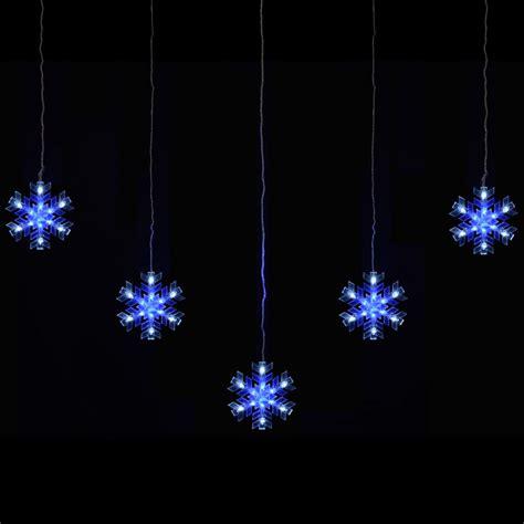 blue outdoor christmas lights mains voltage 5 piece snowflake curtain christmas festive