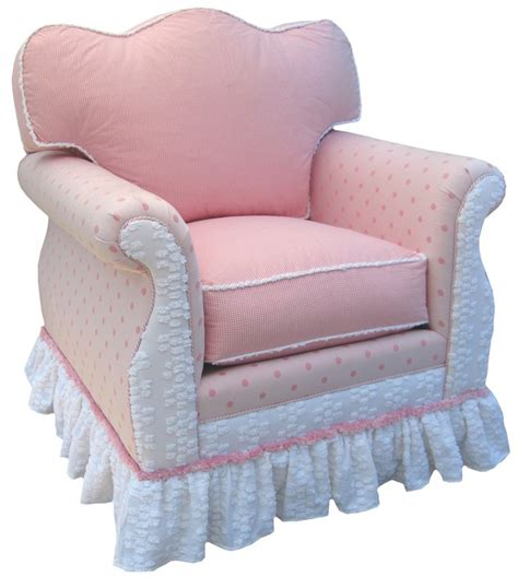 empire pink white traditional upholstered swivel glider