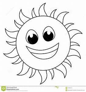 Clipart Of Sun For Colouring - ClipartXtras
