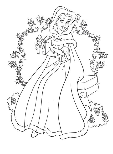 disney princess   gift  christmas coloring pages