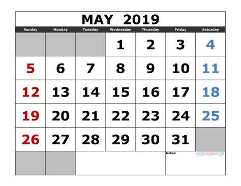 printable calendar template landscape format printable