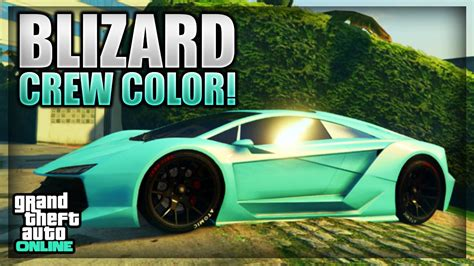 gta   modded crew color showcase  blizard blue youtube