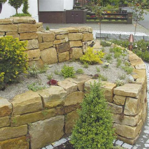 Steine Für Mauer Im Garten by Gartenmauer Mauersteine Mischungsverh 228 Ltnis Zement