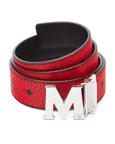 m designer belt mcm claus reversible visetos saffiano belt