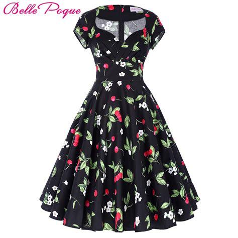 poque hepburn robe retro rockabilly dress 2017 jurken 60s swing floral pin up