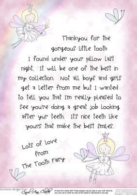 Letter From The Tooth Fairy Cup Craftsuprint
