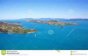 Hamilton Island Aerial Whitsundays Landscape Stock Photo